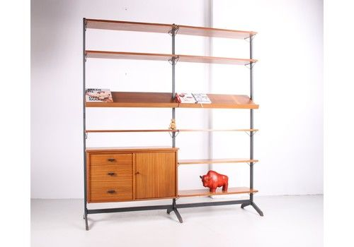 Olof Pira Adjustable Wall Unit Or Bookcase Made In Sweden From The 60s