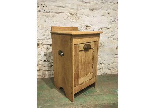 Charming Pale Oak Coal Cupboard /Bedside Cupboard