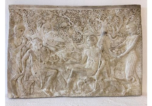 Large Stone Relief Mythological Scene Bacchus Dionysus Nymphs Maenads Satyr Inc Del Eng/Wales. *Scot Extra