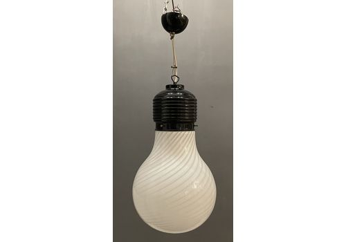 Midcentury Murano Glass Light Pendant By Venini