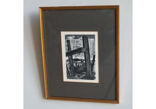 Vintage Wood Engraving By Michael Renton