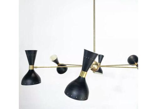 Big Black Chandelier Vintage Design