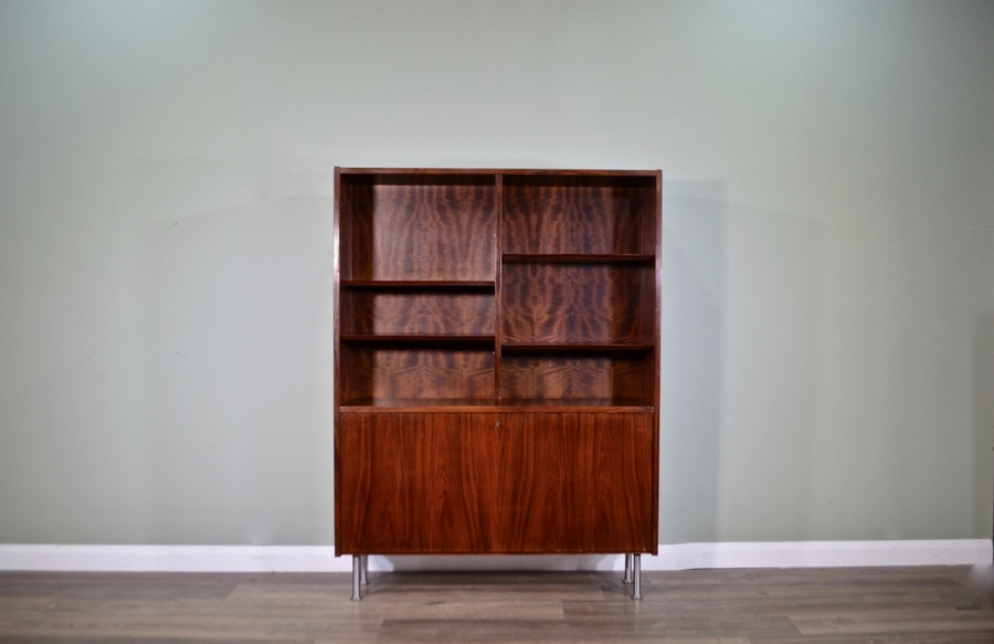 Midcentury Danish Rosewood Shelving Unit / Bookcase / Room Divider. Vintage Modern / Retro / Scandinavian Style.