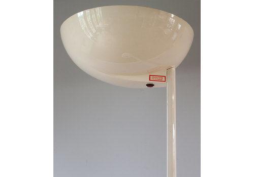 Original British Retro Thorn Emi 1980's Tall White Uplighter Floor Lamp