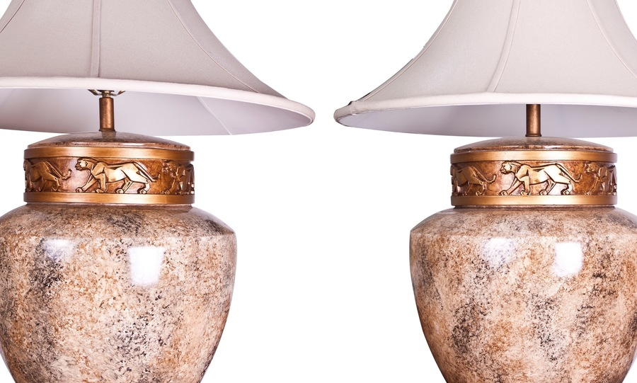 A Pair Of Large Art Deco Table Lamps