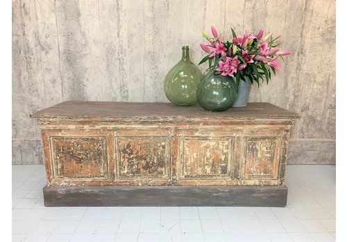 2105cm Wide 19th Century Shop Counter Kitchen Island With Original Paint