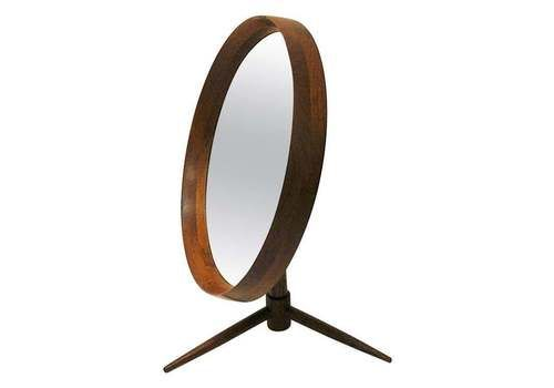 Danish Teak Flip Top Table Mirror By Pedersen & Hansen, Denmark, 1960s
