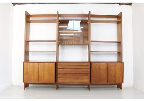 Mid Century Danish Teak Cado Room Divider, Poul Cadovius Modular Wall Unit   Retro Sideboard Display Shelving Storage   Rare Model