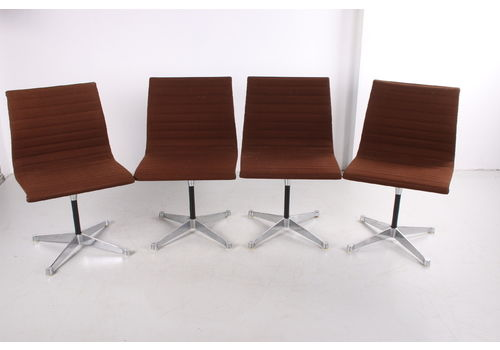 4 Aluminum Chairs Model Ea 106 Charles & Ray Eames Made By Vitra