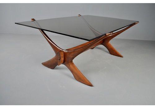 örebro Glas 'Condor' Teak Coffee Table Midcentury Design