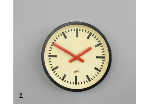 Red Handed Textile Factory Clock Circa 1960s