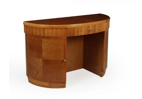 Art Deco Desk In Birds Eye Maple
