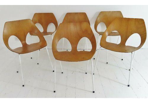 Stunning Set 6 Vintage Frank Guille Kandya Jason Chairs