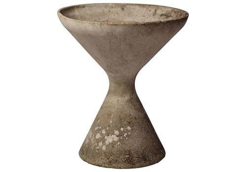 Mid Century Modern Willy Guhl Hourglass Concrete Planter