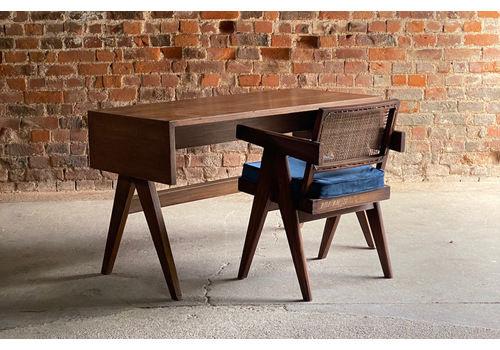Pierre Jeanneret Student Library Desk  & V Leg Chair Chandigarh Circa 1955