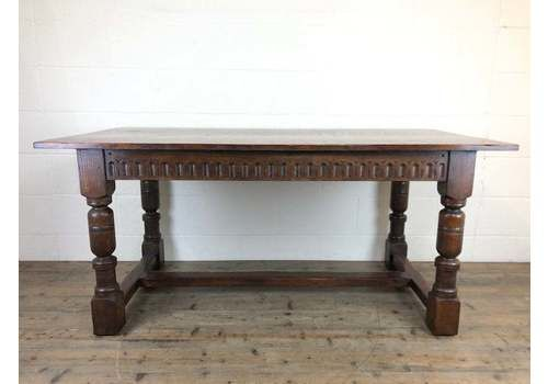 Early 20th Century Antique Oak Refectory Table | Antique Table | Oak Table | Dining Table | Refectory Table | Carved Table | Antiques