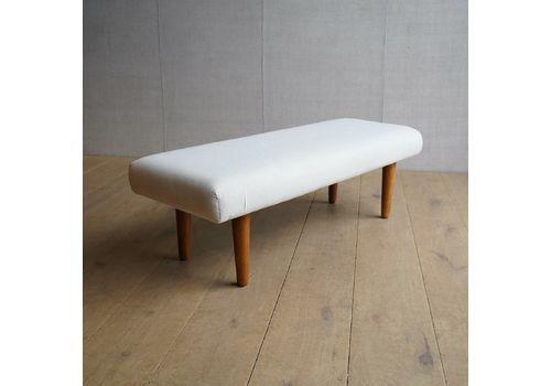 Vintage Style Cotton Footstool Ottoman