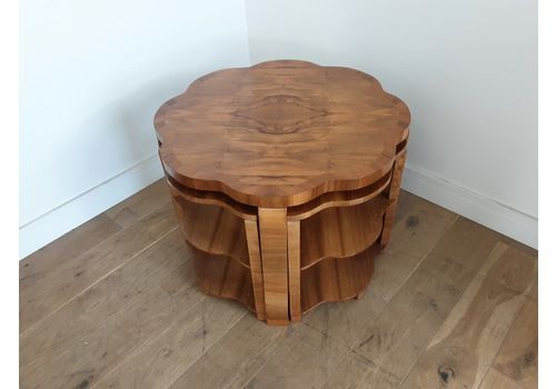 Art Deco Walnut Nest Of Table By Harry And Lou Epstein