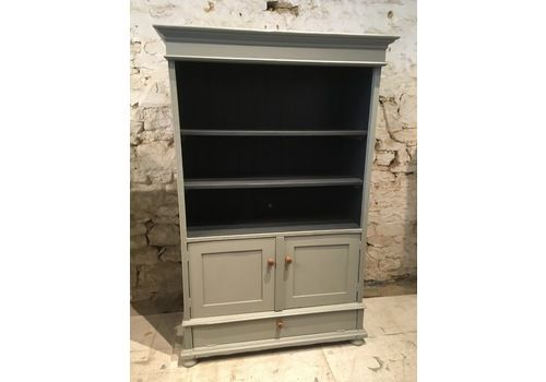 Painted Pine Bookcase/Dresser With Cupboard