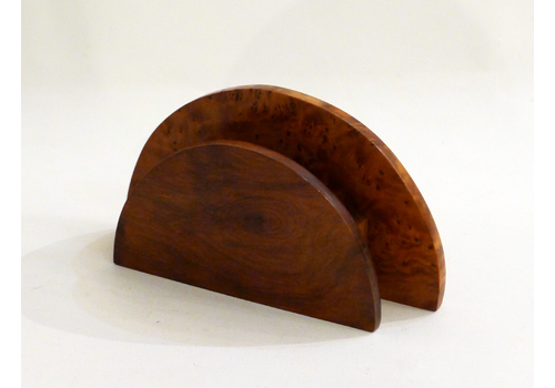 Thuja Wood Semicircle Pencil Holder