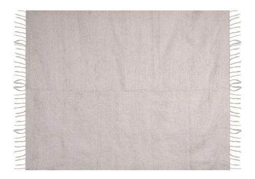 "White Turkish Blanket Kilim Rug 5'5"" X 7'1"""