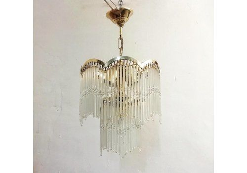 Glass Pendant Lamp, 1970s