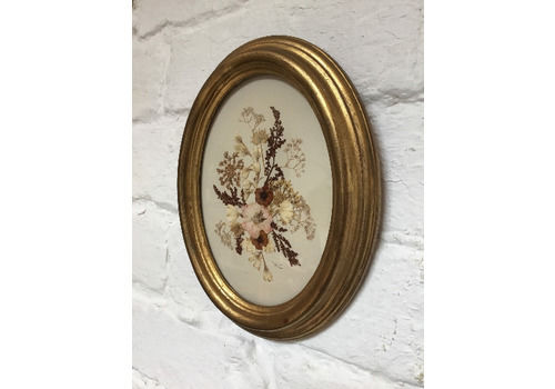 Stunning Vintage Dried Pressed Flowers Framed