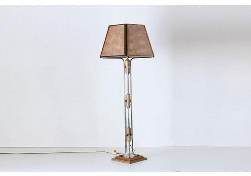 1970s Vintage Golden Floor Lamp