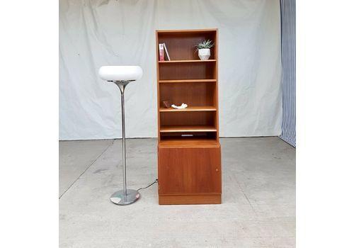 Mid Century Poul Hundervard Danish Wall Shelving Unit Bookcase Cupboard