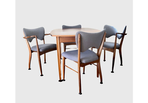 Peter Haywood For Vanson Mid Century Teak Extendable Table And 4 Chairs C 1957