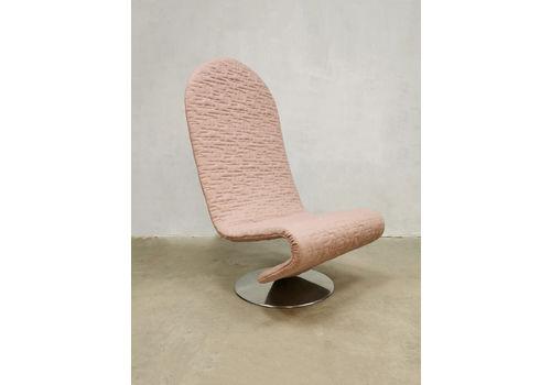 Vintage Danish Design Easy Chair 123 Verner Panton Fritz Hansen