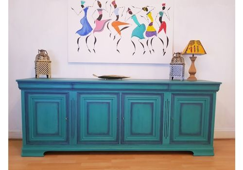 French Original Louis Philippe Sideboard 18th Century / One Off Piece In Custom Florence
