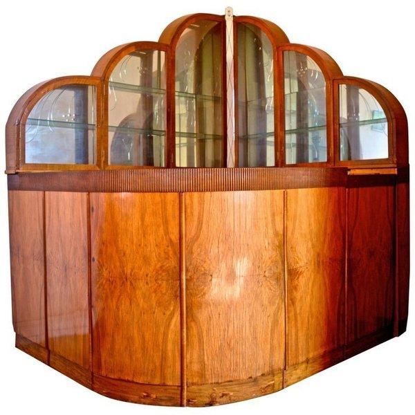 1946 Bespoke Handmade Art Deco Bar