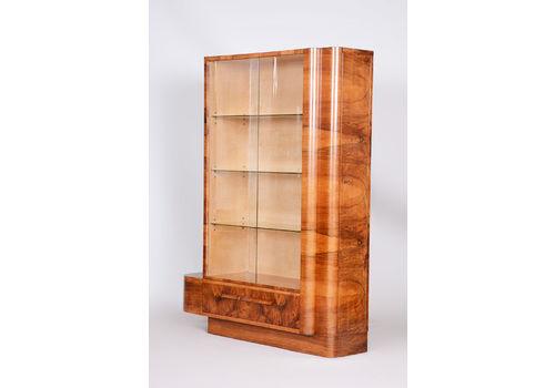 Walnut Halabala Bookcase