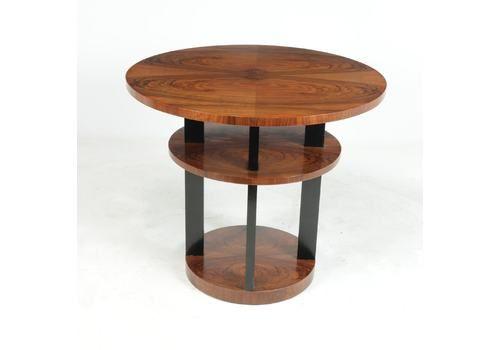 Art Deco Center Coffee Table In Walnut