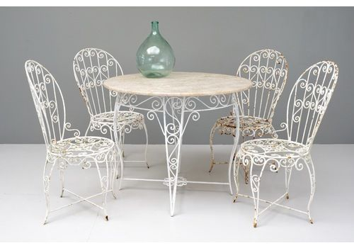Garden Table And Chairs Set, 1960s