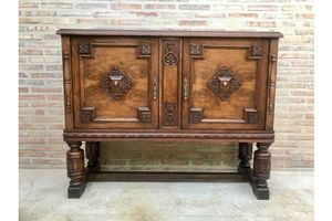 Thumb 19th century catalan spanish buffet with mirror crest 1800s 0