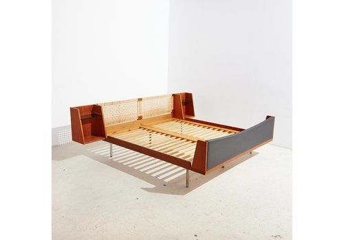 Model 701 Teak Double Bed By Hans J. Wegner For Getama