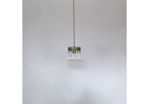 Small French Brass Icicle Pendant