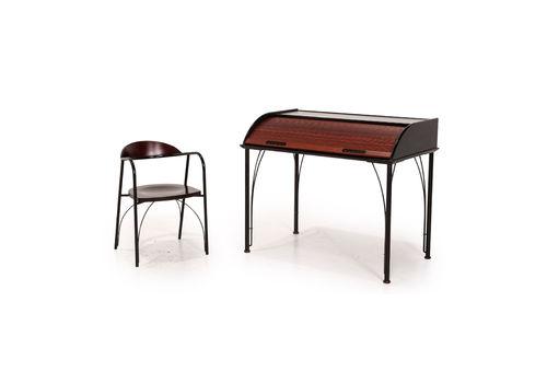 Ligne Roset Wood Secretary Black Desk Office Furniture