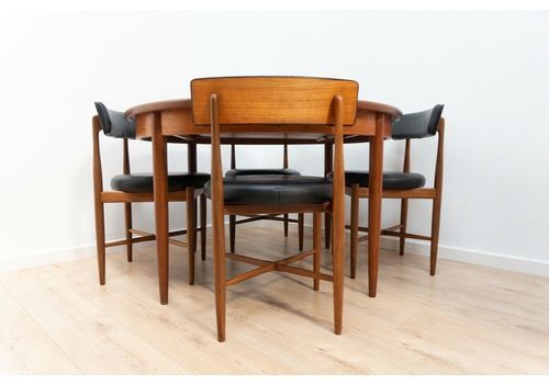 Midcentury G Plan Vintage Teak Fresco Dining Table & 4 Dining Chairs