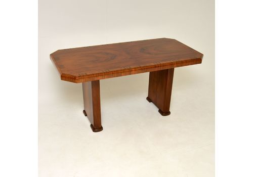 Art Deco Figured Walnut Dining Table 1930's