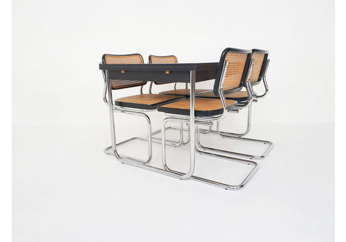 Dining Room Set In The Style Of Marcel Breuer For Thonet, 1980s