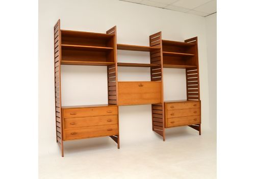 Staples Ladderax Shelving In Teak