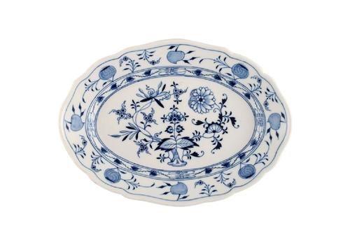 "Antique Meissen ""Blue Onion"" Serving Dish In Hand Painted Porcelain"