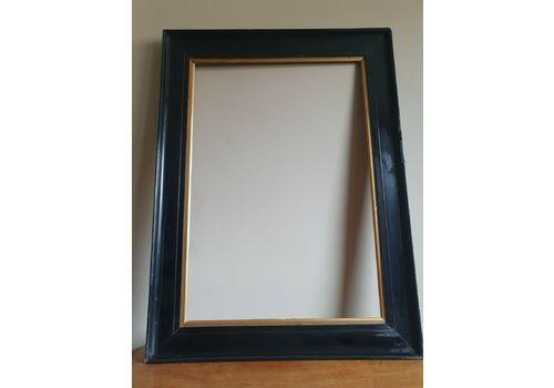 Antique Large Ebonised Frame With Gilt Slip