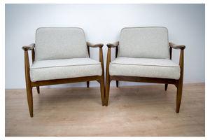 Thumb pair of gfm 87 armchairs by juliusz kedziorek for goscicinskie furniture factory juliusz kedziorek 1960s 0
