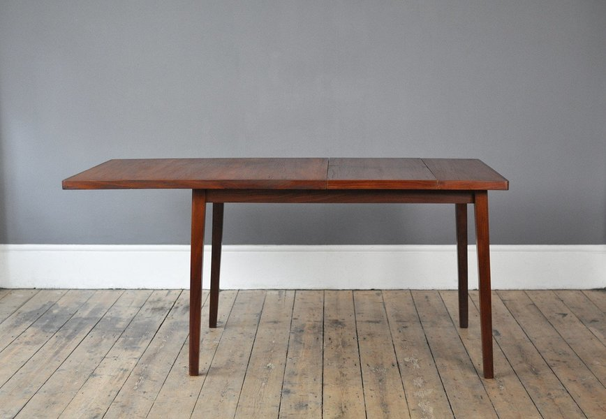Teak Dining Table With Unique Side Extension