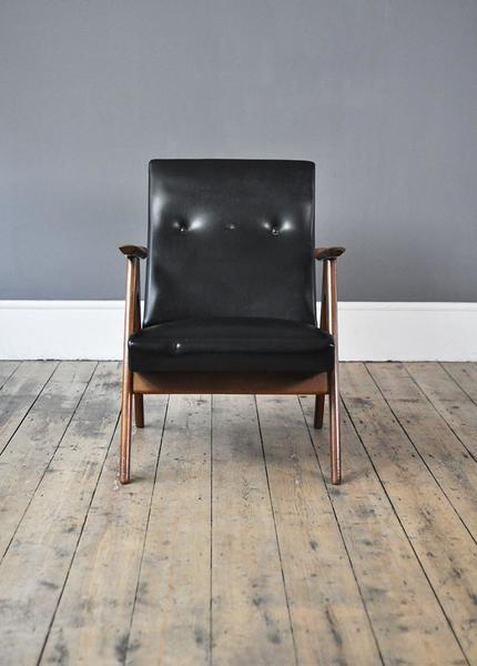 Dutch Black Low Back Armchair photo 1