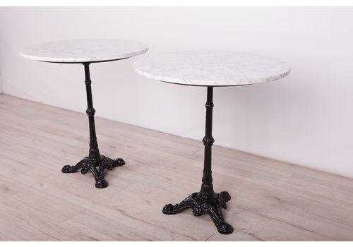 Art Nouveau Cast Iron & Marble Pedestal Table,Det Of 2, 1920s